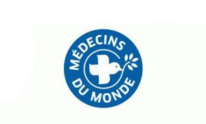 Logo Médecins du monde bleu et blanc