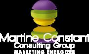 Footer logo de l'agence de marketing Martine Constant